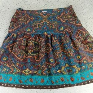 Anthro Plenty Tracy Reese Silk Studded Boho Skirt